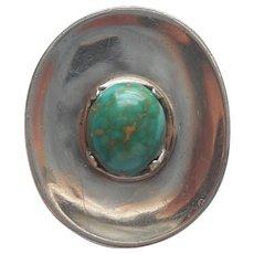 Taxco Talleres De Los Ballesteros Mexico Sterling Silver Modernist Pin Pendant Vintage