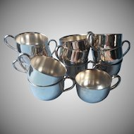 12 Oneida Punch Cups Vintage Silver Plated 1960s