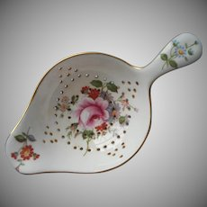 Royal Crown Derby Tea Strainer Derby Posies Vintage Bone China