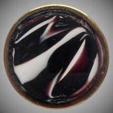 Victorian Purple Slag Glass Collar Button Antique