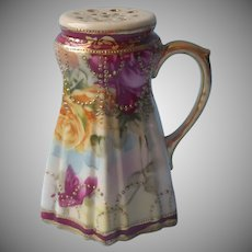 Nippon Sugar Shaker Antique Hand Painted China Gold