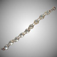 Very Early Plastic Stones Bracelet 1910s 20s