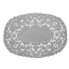 Antique Lace Linen Oval Centerpiece or Tray Doily