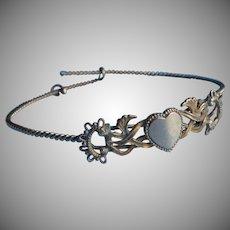 Antique Bracelet Heart On Wire Bangle TLC