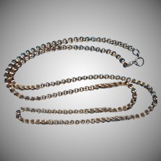 Antique Gold Filled Chain Thick Links Ideal For Big Antique Pendant