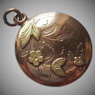 Monogram M. A. Fob Charm Antique Victorian Looks Like Locket