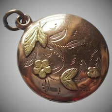 Monogram M. A. Fob Charm Antique Victorian Looks Like Locket