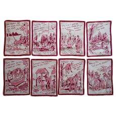 Hillbilly Cocktail Napkins Vintage Linen Print  Paul Webb 1930s