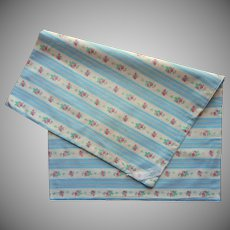 Feather Pillow Protector Cover Wallpaper Stripe Vintage Blue Pink Roses