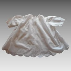 Fine Baby Dress Vintage Exquisite Hand Embroidery All White