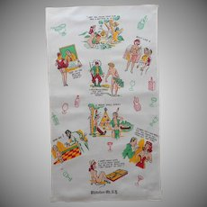 Utterly Tasteless Risque Naughty Vintage Bar Towel Whiteface Mountain Souvenir
