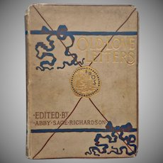 1882 Love Letters Book Entitled Old Love Letters Richardson Osgood