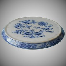 Antique Blue Onion Tea Trivet Zwiebel Petrus Regout Dutch China