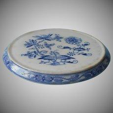 Antique Blue Onion Tea Trivet Zwiebel Petrus Regout Dutch China