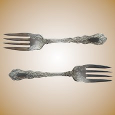 Alhambra 1907 Salad Forks 2 Antique Silver Plated