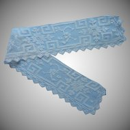 Antique Lace Collar Armistice Era Strip Style Filet Net