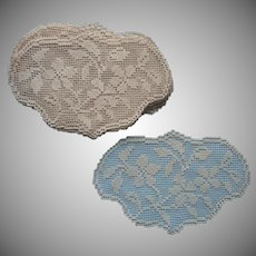 ca 1920 Filet Net Lace Inserts For Sewing Towels Tablecloth Repairs Etc