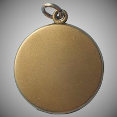 Antique Locket Simple Plain Satin Finish Gold Filled