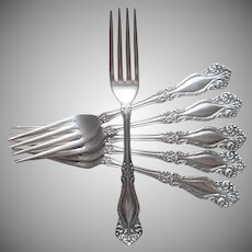 Newton Raleigh 1900 Antique Forks Silver Plated
