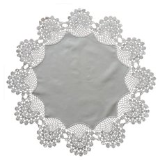 Antique Centerpiece Doily Crocheted Lace Cotton Center TLC