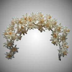 Wax Flowers Vintage For Bridal Wedding Veil Band Wreath Head Piece Spray
