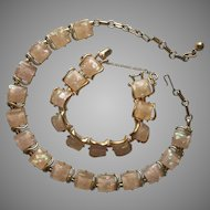 Coro Confetti Lucite Necklace Bracelet Set Vintage