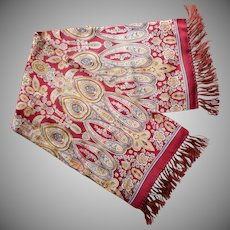 Gent's Opera Scarf Vintage 1930s or 1940s Paisley TLC