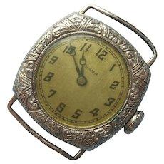 1920s White Gold Filled Ladies Watch Vintage 15 Jewels Runs