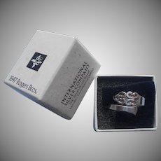 Triumph 1968 Spoon Ring Original Box Vintage Silver Plated