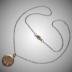 1940s Child's Locket on Kiddie Kraft Chain Both Gold Filled Vintage Or Petite Woman