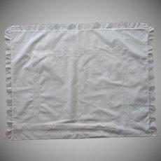 Pillow Sham Monogram G. S. Vintage Eyelet Trim European