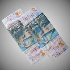 Zodiac Vintage Seam Binding Ribbon 1969 2 Packages Wrights Sealed