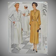 1948 Nurse Uniform Vintage Sewing Pattern McCall 7517 34 Bust 16