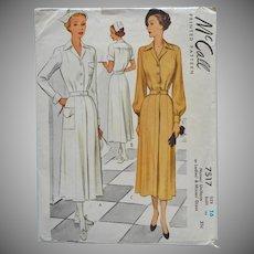 1948 Nurse Uniform Vintage Sewing Pattern McCall 7517 34 Bust 16