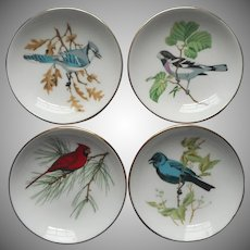 Crown Staffordshire Bone China Bird Ashtrays Tea Bag Holders Pin Dishes Vintage