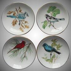 Crown Staffordshire Bone China Bird Ashtrays Tea Bag Holders Pin Dishes Vintage