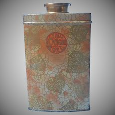 Vintage L'Origan Coty Talc Tin 1920s to 1930s