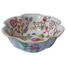 Andrea By Sadek Bowl Vintage Heavy Asian Botanical