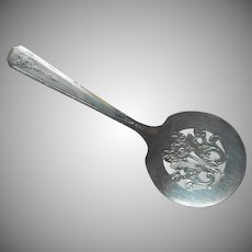 Bonbon Spoon Serving Silver Plated Vintage Milady 1940