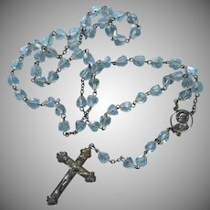 Classic Rosary Crystal Cone Cut Clear Faceted Beads Vintage