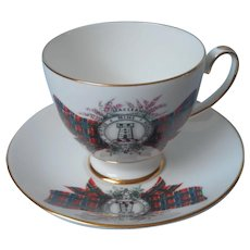 Maclean Tartan Royal Grafton Vintage English Bone China Cup Saucer