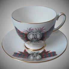 Maclean Tartan Royal Grafton Vintage English Bone China Cup Saucer