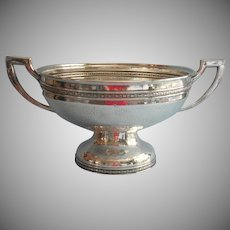 1920s Hammered Silver Plated Small Punch Bowl Big Fruit Bowl Vintage