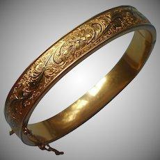 1930s Gold Filled Bracelet Victorian Revival Binder Brothers Taille D'Epargne
