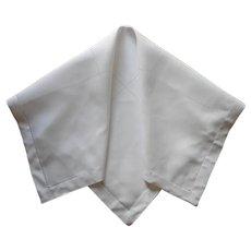 1920s Linen Tea Tablecloth Vintage Simple Gridwork Hemstitching