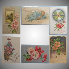 Antique Birthday Postcards Post Cards All Floral All Birthday