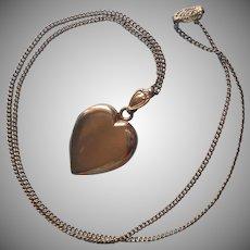 Monogram C.D. 1940s Locket Vintage Gold Filled On Chain Necklace