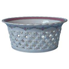Vista Alegre Large Centerpiece Bowl Basket Reticulated Vintage