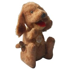 Wind Up Toy Dog Japan TN Victory Runs Tail Wags Begs