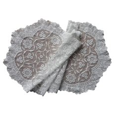 Lace Runner Vintage 1920s Embroidered Net A Bit TLC